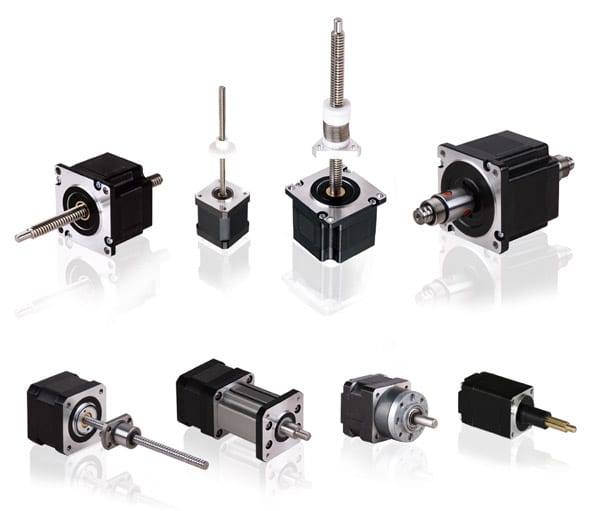Hybrid linear stepper motor actuators