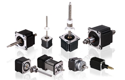 Hybrid linear stepper motor actuators small