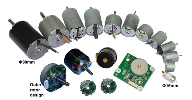 MBS integrated BLDC motor with outer rotor