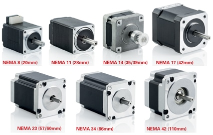 hybrid stepper motors family